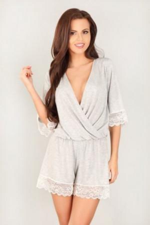 Lupoline 303 dámské pyžamo 40 šedá