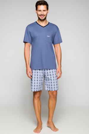 Pánské pyžamo Regina 566 kr/r 2XL tmavě modrá