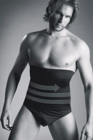 Stahující pánský pás Body Perfekt - Mitex černá