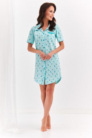 Krátká dámská noční košile 2139 DALIA S-XL MIĘTA ANANASY
