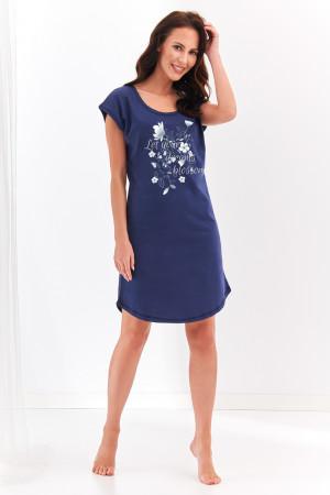 Krátká dámská noční košile 2370 AGNIESZKA S-XL tmavě modrá