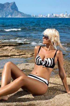 Dámské dvoudílné plavky Suzana 5214 - Lorin černo - bílá