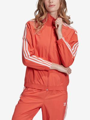 Bunda adidas Originals Nylon Track Top Červená