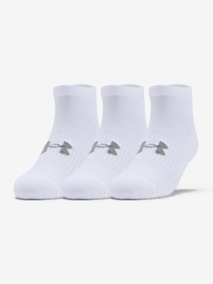 Ponožky Under Armour Training Cotton Locut Bílá