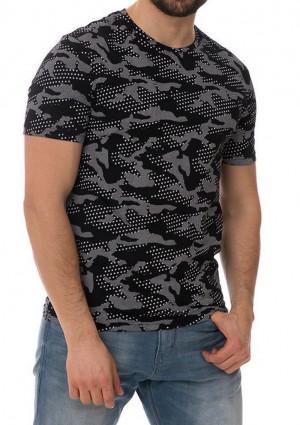Pánské tričko John Frank JFTMC12 L Černá