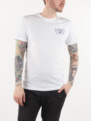 Tričko Vans Mn Full Patch Back S White/Heliotrop Bílá