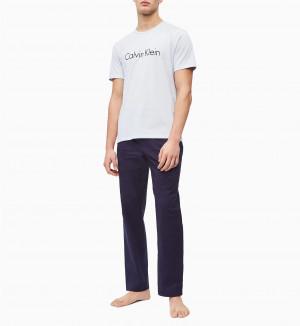 Pánské tričko NM1129E-8ZW modrá - Calvin Klein modrá