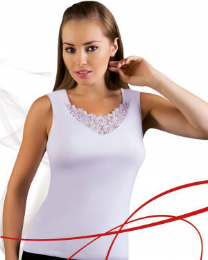 Dámská košilka Berta plus white bílá 3XL