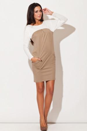 Dámské šaty K106 beige