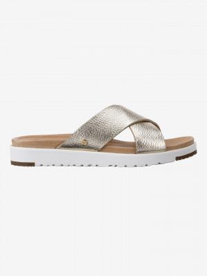 Kari Metallic Pantofle UGG Zlatá