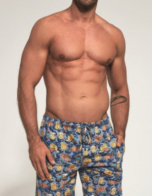 Cornette 691/24 614502 pánské pyžamové kalhoty M jeans