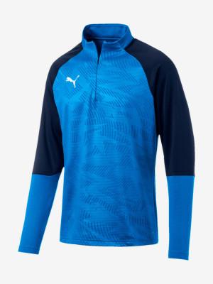 Mikina Puma Cup Training 1 4 Zip T Core Modrá