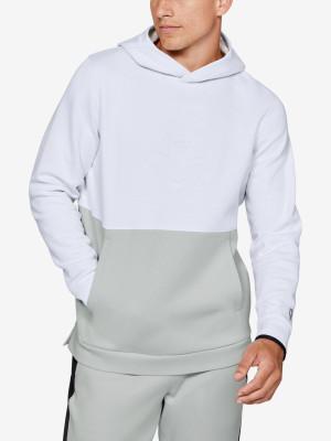 Mikina Under Armour Athlete Recovery Fleece Graphic Hoodie-W Bílá