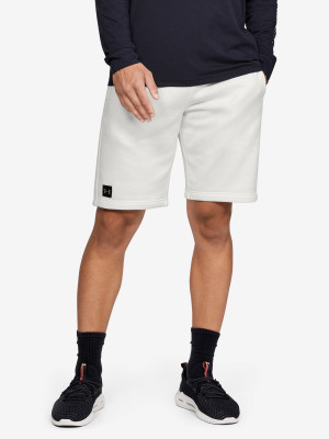 Kraťasy Under Armour Rival Fleece Short Bílá
