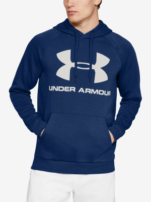 Mikina Under Armour Rival Fleece Sportstyle Logo Hoodie Modrá