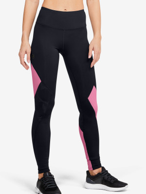 Kompresní legíny Under Armour Rush Embossed Leggings Černá