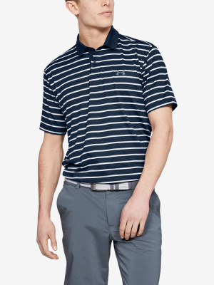 Tričko Under Armour Performance Polo 2.0 Divot Stripe-Nvy Modrá