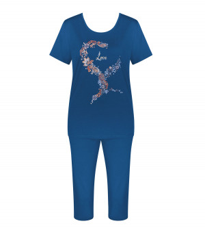 Dámské pyžamo Sets PK Capri - Triumph kombinace šedé (M013) 044