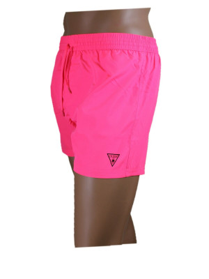 Pánské plavkové šortky F02T25WO02O-PINF neonová růžová - Guess neonová růžová