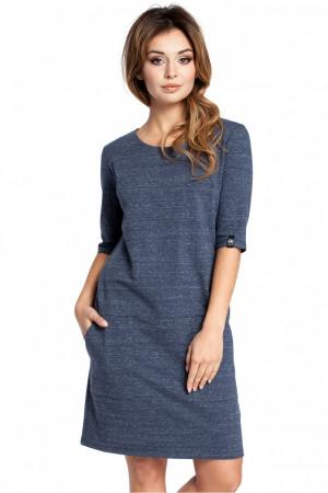 Dámské šaty B033 - BEwear  navy blue XL-42