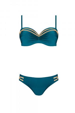 Dvoudílné dámské plavky Self S 730 V3 smaragdová