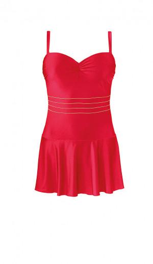 Jednodílné dámské plavky Self S 8900 X červená