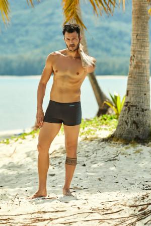 Pánské plavky - boxerky Henderson 37805 Hide grey