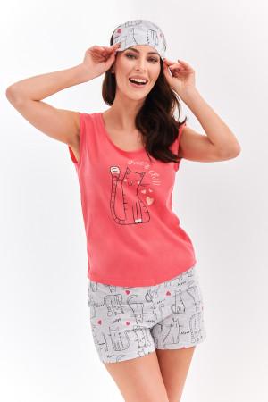 Krátké dámské pyžamo 2157 EVA S-L meruňková