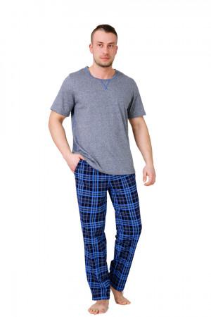 Pánské pyžamo 545 AKSEL šedá-žíhaná 2XL