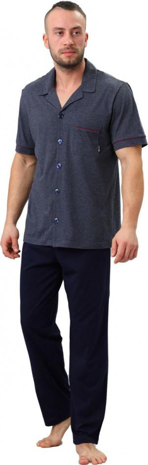Pánské pyžamo 703 BRAJAN šedá-žíhaná