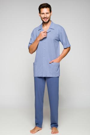 Pánské pyžamo Regina 558 kr/r 2XL-3XL  tmavě modrá
