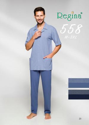 Pánské pyžamo 558 BIG tmavě modrá 3XL
