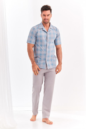 Pánské pyžamo 921 GRACJAN  M-XL šedá