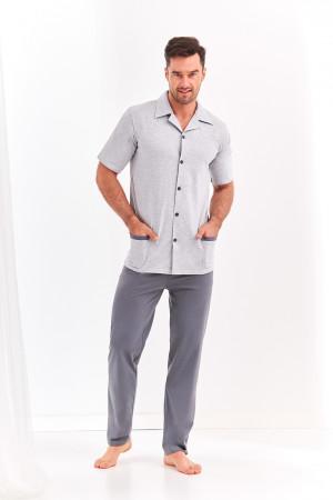 Pánské pyžamo 2390 FELIKS M-XL šedá