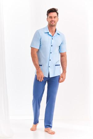 Pánské pyžamo 2391 FELIKS 2XL-3XL modrá 3XL