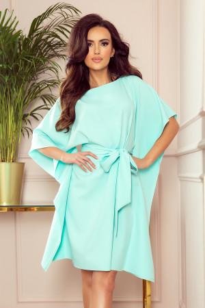 SOFIA - Dámské motýlkové šaty v mátové barvě 287-6  S/M