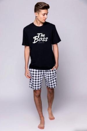 Sensis The Boss pánské pyžamo L černá