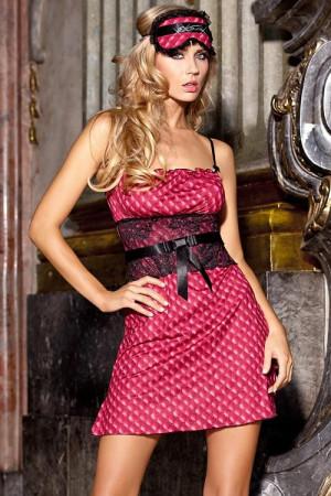 Dámská košilka Courtesan V-4169 - Axami růžovo-černá M-38