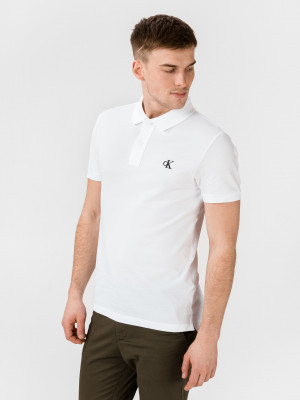 Polo triko Calvin Klein Bílá