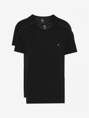 Spodní triko 2 ks Calvin Klein Černá