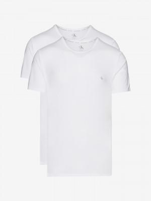Spodní triko 2 ks Calvin Klein Bílá