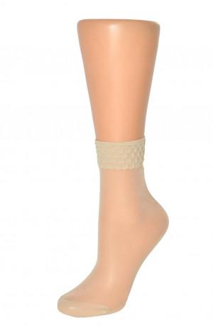 Dámské ponožky Veneziana Bordo Alveare béžová 35-38