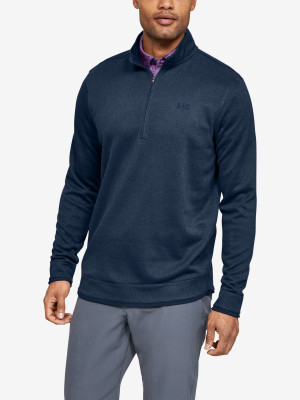 Tričko Under Armour Sweaterfleece 1/2 Zip-Nvy Modrá