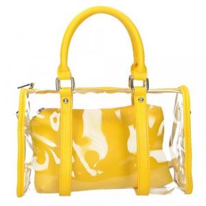 Průhledná kabelka se žlutým pouzdrem  univerzální