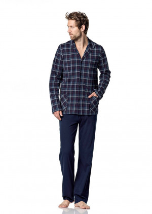 Pánské pyžamo 5041 - Vamp modrá/ káro