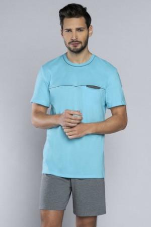 Italian Fashion Kacper Pánské pyžamo 2XL tyrkysová