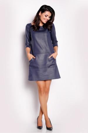 Dámské šaty A153 - Awama  tmavě modrá
