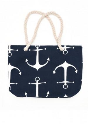 Plážová taška Esotiq 38132  UNI Tm. modrá