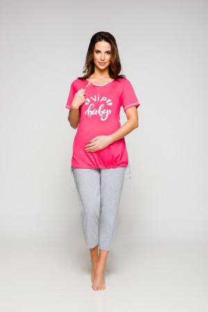 Dámské pyžamo Regina 665A kr/r 2XL K malinová