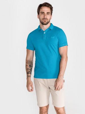 Polo triko SuperDry Modrá